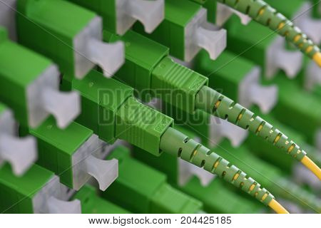 Optical distribution panels with fiber cables at passive optical network