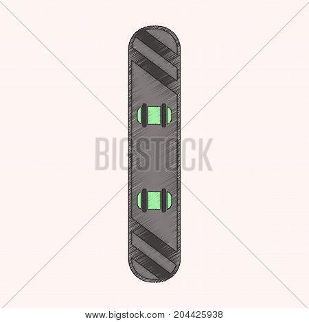 flat shading style icon snowboard speed extreme