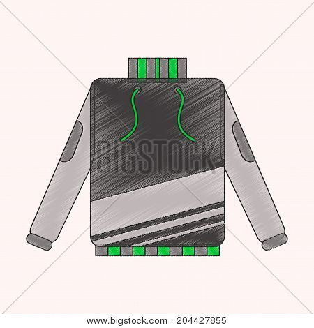 flat shading style icon skiing sweater wintertime