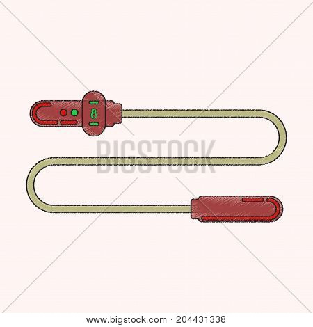 flat shading style icon Jump Rope energy
