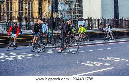 Cyclists In London (hdr)