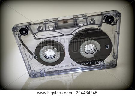Cassette tapes analog isolated on white background, Vintage concept