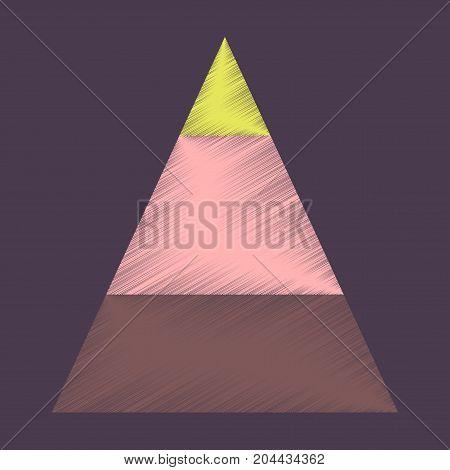 flat shading style icon Economic pyramid economy