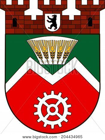 Coat of arms of Marzahn of Marzahn-Hellersdorf in Berlin Germany. Vector illustration from the