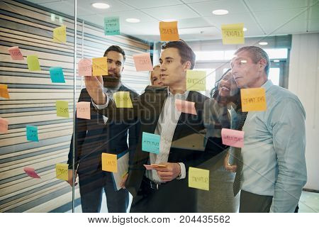 Group Of Business People Brainstorming