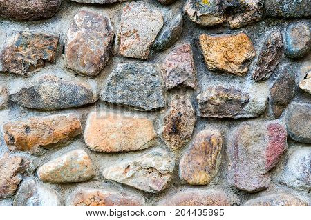 Background texture of an old stone wall