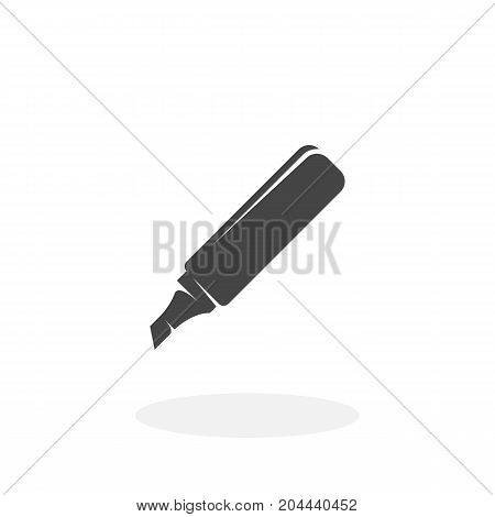 Marker icon isolated on white background. Marker vector logo. Flat design style. Modern vector pictogram for web graphics - stock vector