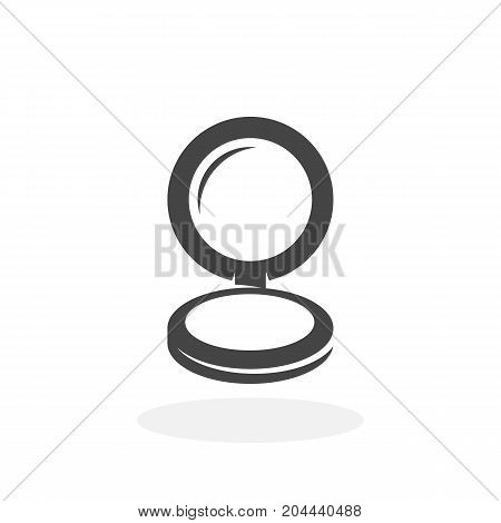 Mirror with powder icon isolated on white background. Mirror with powder vector logo. Flat design style. Modern vector pictogram for web graphics - stock vector