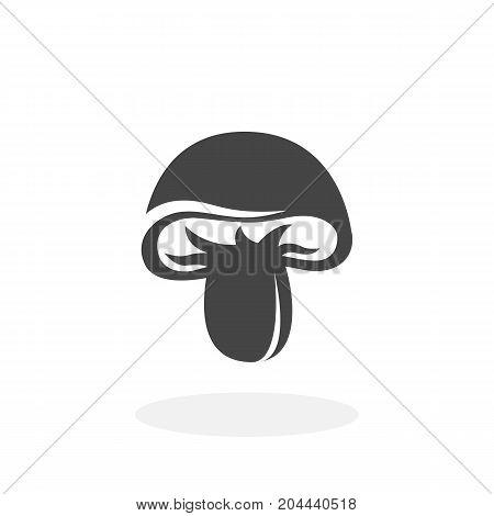 Mushroom icon isolated on white background. Mushroom vector logo. Flat design style. Modern vector pictogram for web graphics - stock vector