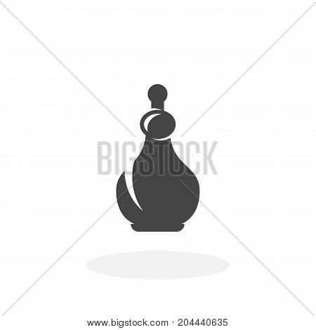 Perfume bottle icon isolated on white background. Perfume bottle vector logo. Flat design style. Modern vector pictogram for web graphics - stock vector