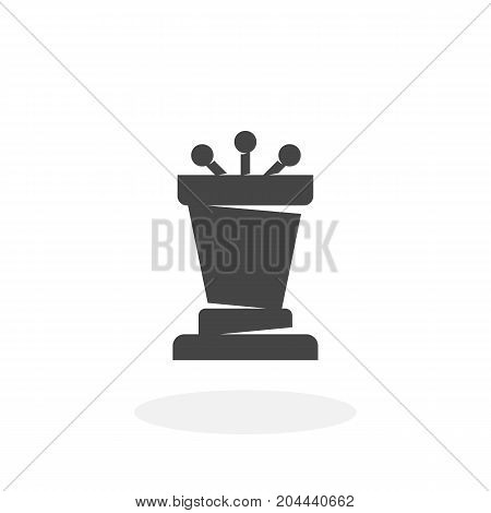 Podium icon isolated on white background. Podium vector logo. Flat design style. Modern vector pictogram for web graphics - stock vector