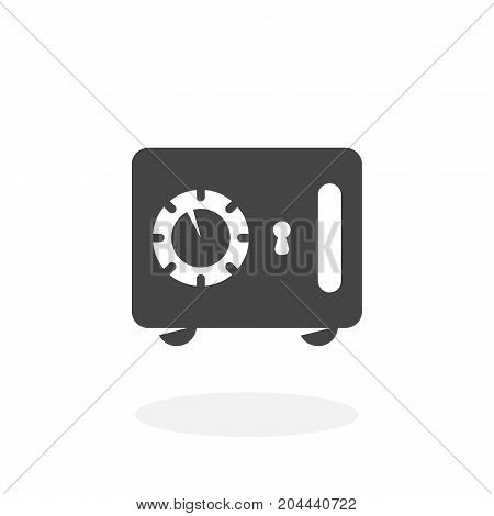 Safe icon isolated on white background. Safe vector logo. Flat design style. Modern vector pictogram for web graphics - stock vector