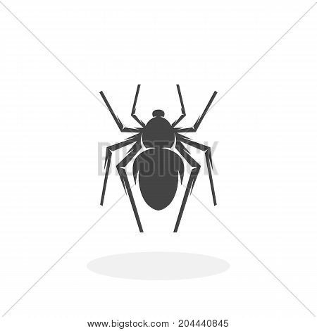 Spider icon isolated on white background. Spider vector logo. Flat design style. Modern vector pictogram for web graphics - stock vector