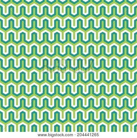Seamless Abstract Interlocking Geometric Background Texture Pattern