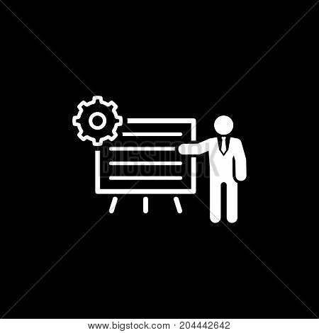 Business Processes Icon. Business Concept. Flat Design. Isolated Illustration