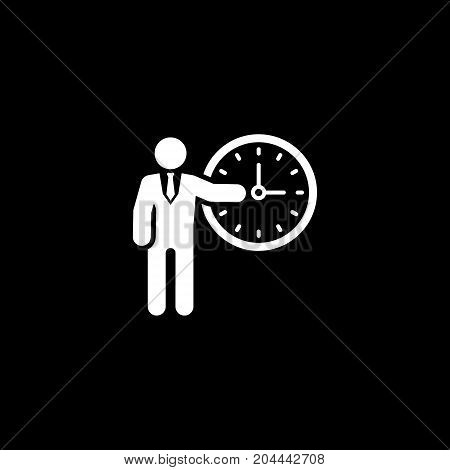 Time Management Icon. Business Concept. Flat Design. Isolated Illustration