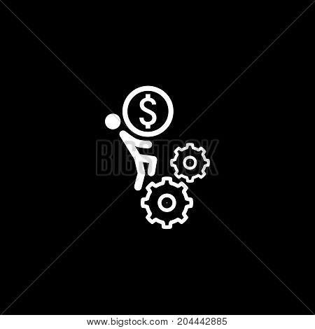 Business Mechanics Icon. Flat Design. Isolated Illustration