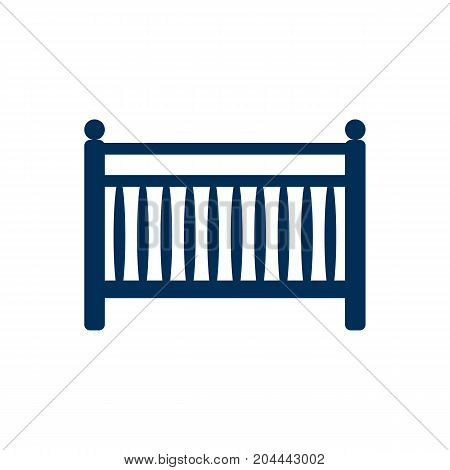 Vector Cot Element In Trendy Style.  Isolated Crib Icon Symbol On Clean Background.