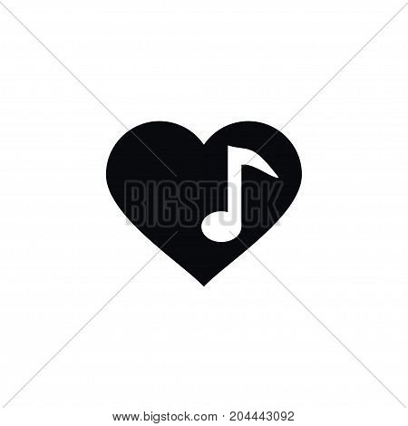 Song Vector Element Can Be Used For Song, Love, Heart Design Concept.  Isolated Music Icon.