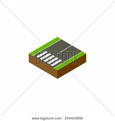 Footpassenger Vector Element Can Be Used For Footer, Footpassenger, Road Design Concept.  Isolated Footer Isometric.