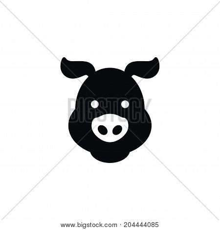 Hog Vector Element Can Be Used For Hog, Pig, Swine Design Concept.  Isolated Swine Icon.