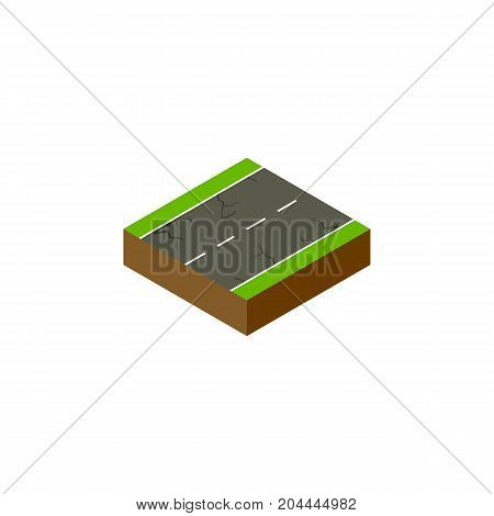 Cracks Vector Element Can Be Used For Cracks, Earthquake, Road Design Concept.  Isolated Earthquake Isometric.
