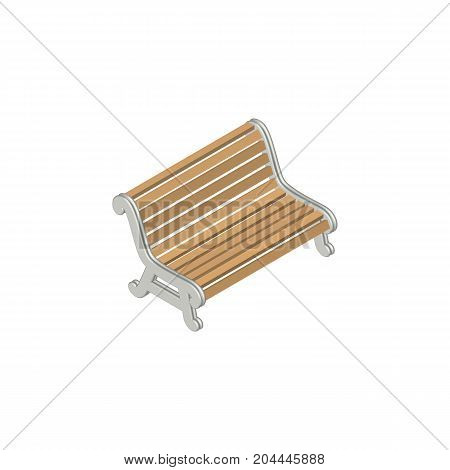 Seat Vector Element Can Be Used For Bench, Seat, Park Design Concept.  Isolated Bench Isometric.