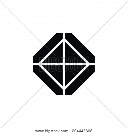 Carat Vector Element Can Be Used For Gem, Crystal, Carat Design Concept.  Isolated Crystal Icon.