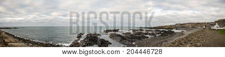 Rocky coastline at MacDuff near Marine Aquarium Scotland
