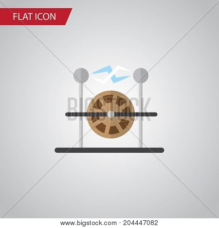 Electrical Engine Vector Element Can Be Used For Electrical, Engine, Electricity Design Concept.  Isolated Electricity Flat Icon.