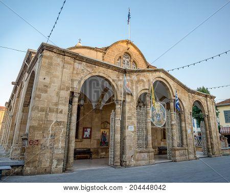 A front of Faneromeni Church in Nicosia city centre Cyprus