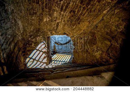 A Sleeping Hammock In Edinburgh Castle Prison Dungeon