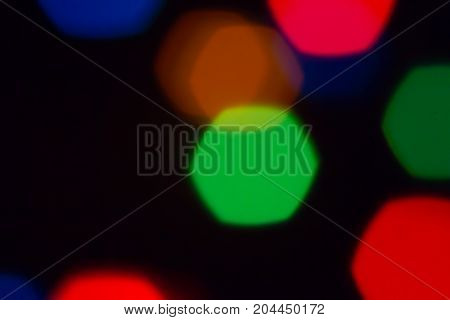 multi colored blurred xmas lights back ground