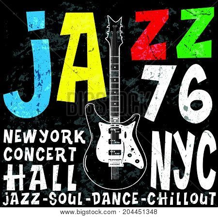 Jazz Concert poster design tee graphic fashion style new art