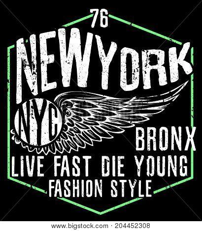 Newyork City typography graphic design fashion style