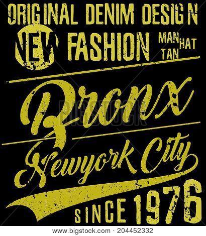 Newyork City typography slogan t-shirt graphics vectors