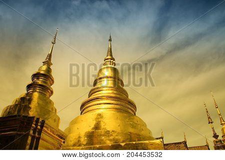 Gold pagoda at