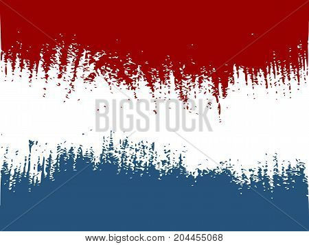 Netherlands flag design concept. Flag textured by grungy wood pattern. Image relative to travel and politic themes