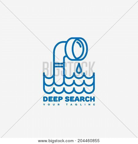 Deep search logo template design. Vector illustration.