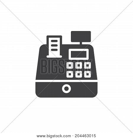 Cash register icon vector, filled flat sign, solid pictogram isolated on white. Symbol, logo illustration. Pixel perfect vector graphics