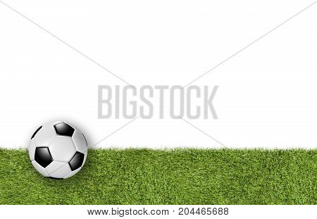 Soccer Field Lower Third On White Background