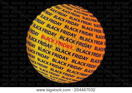 Globe - black friday , Black friday sale background , Abstract vector - black friday - background