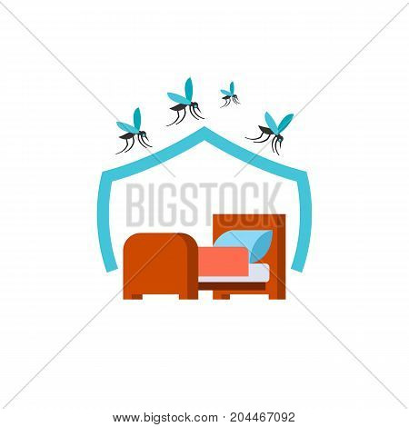 Icon of Mosquito net for bed. Spiral, aroma, killing incest. Mosquito prevent concept. Can be used for topics like protection, solution, repellent
