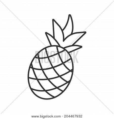 Pineapple linear icon. Thin line illustration. Ananas. Contour symbol. Vector isolated outline drawing
