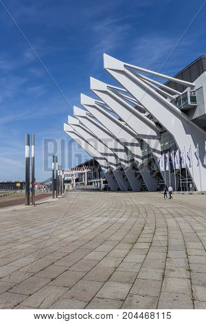 BREMEN, GERMANY - AUGUST 23, 2017: Modern building of the Congress center in Bremen Germany
