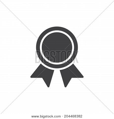 Medal icon vector, filled flat sign, solid pictogram isolated on white. Warranty symbol, logo illustration. Pixel perfect vector graphics