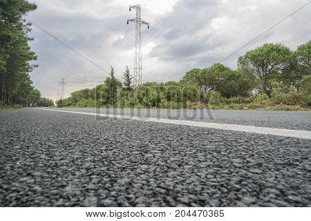 An Empty Asphalt Road