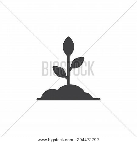 Sprout icon vector, filled flat sign, solid pictogram isolated on white. Symbol, logo illustration