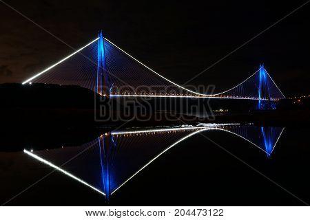 Yavuz Sultan Selim Bridge In Istanbul, Turkey.