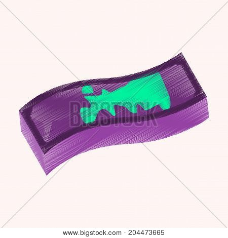 flat shading style icon dirty money banknote